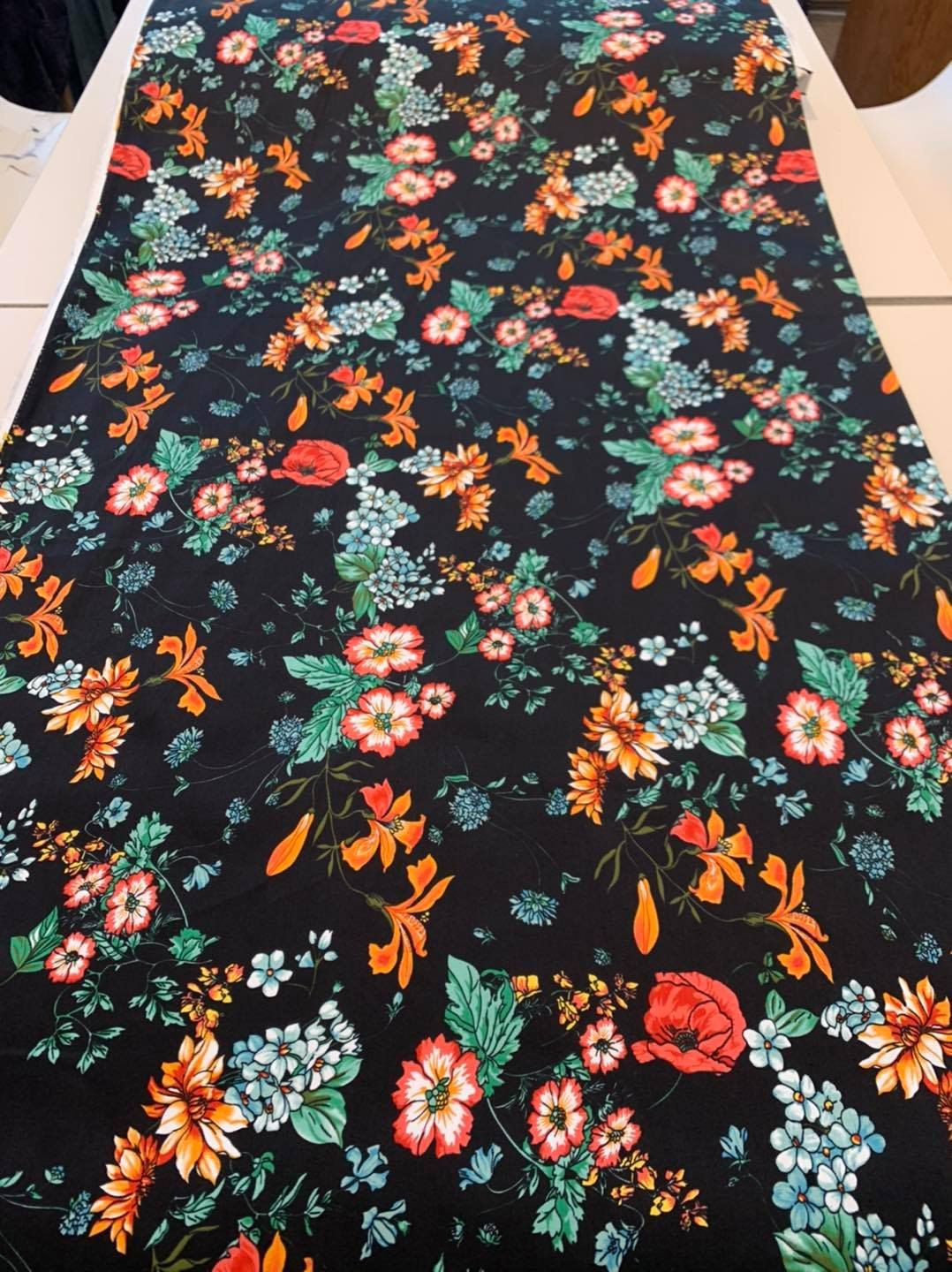 Mixed Meadow Stretch Cotton Sateen