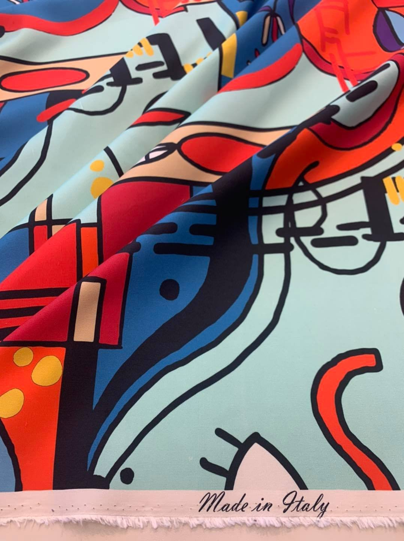 Cubist Gaze Silk Broadcloth