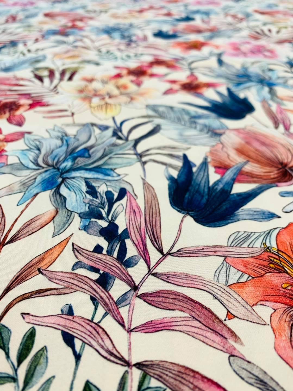 Sketch Garden Stretch Cotton