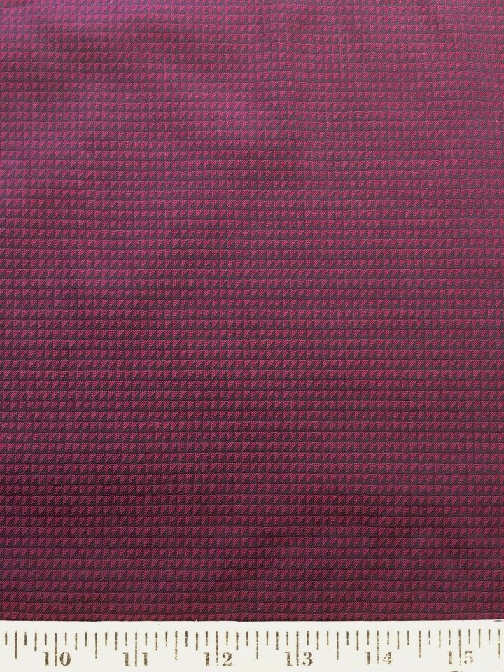 Burgundy and Black Half Square Triangles Cotton Shirting