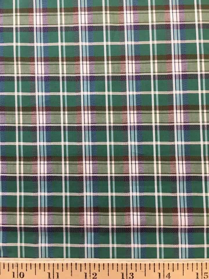Green Plaid Shirt Cotton