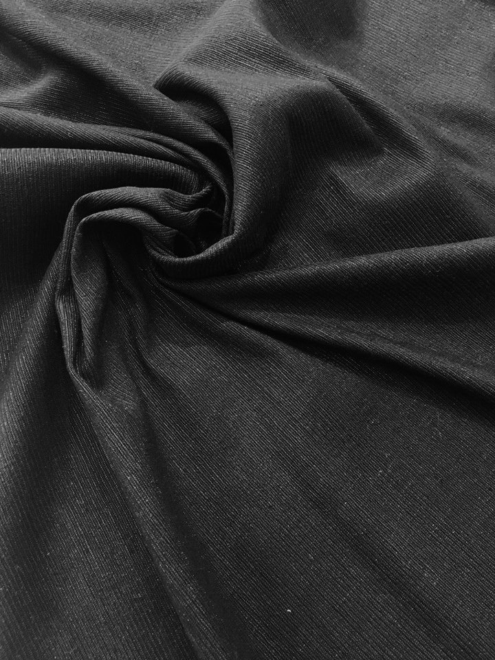 Black/ Lurex raw silk