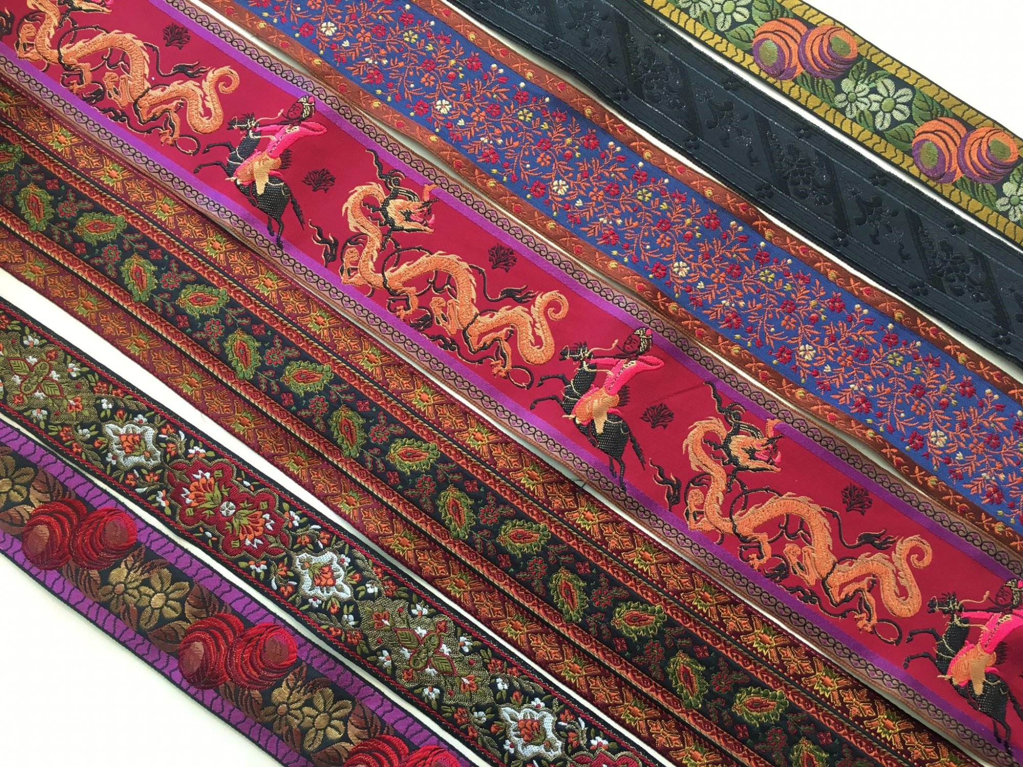 Persian Wide Embroidered Ribbon