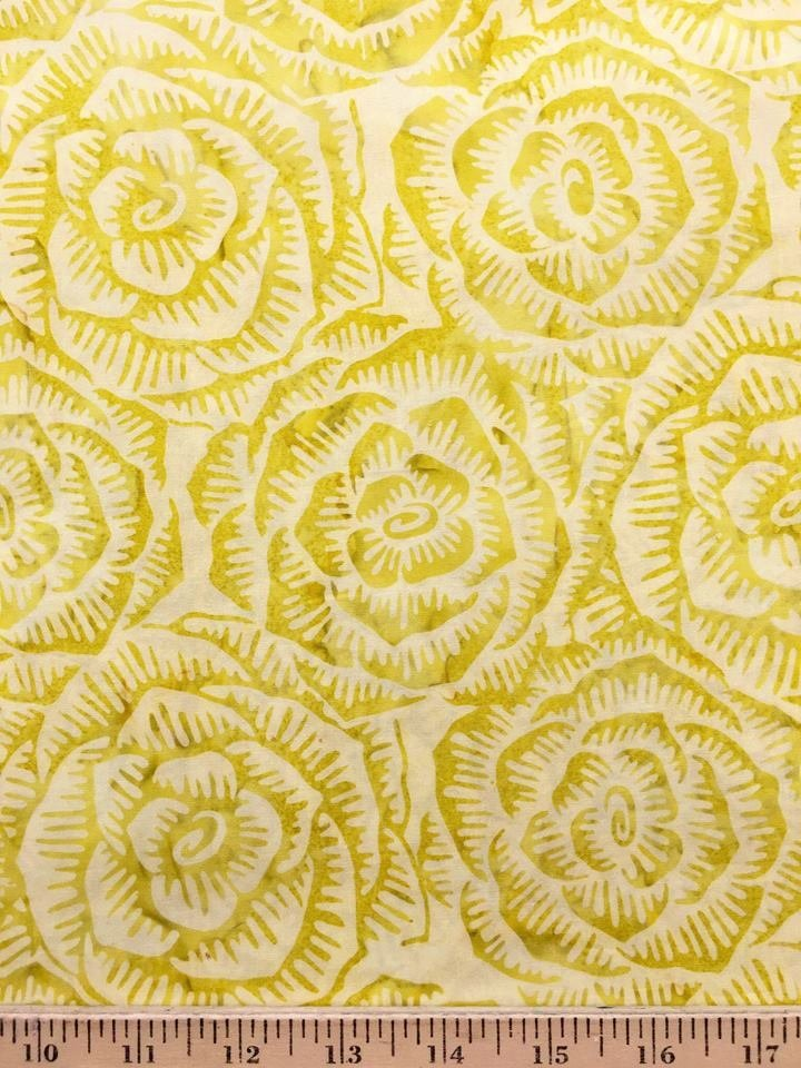 Cabbage Batik in Key Lime