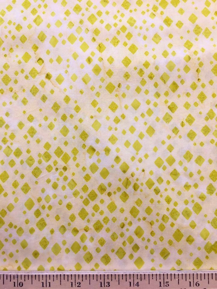 Diamond Dance Batik in Key Lime