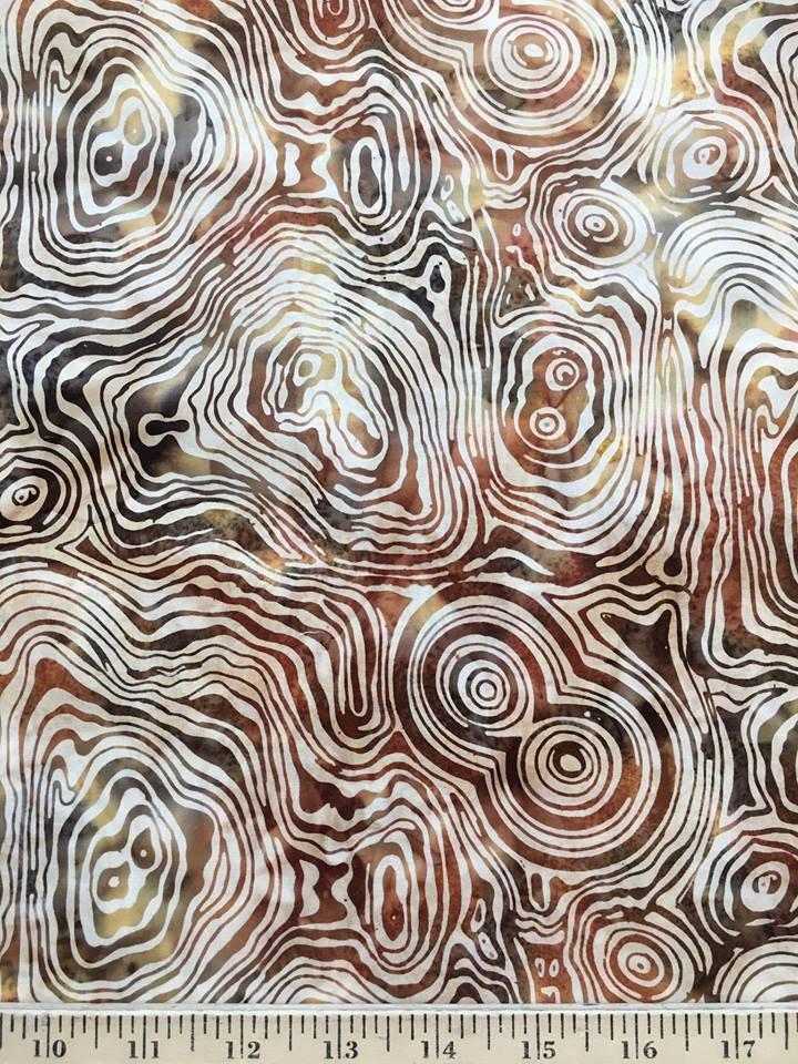Stump Cross Sections in Gold Batik