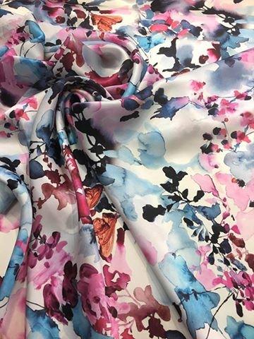 Digital Watercolor Silk