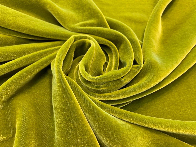 Tourmaline Green Silk Velvet
