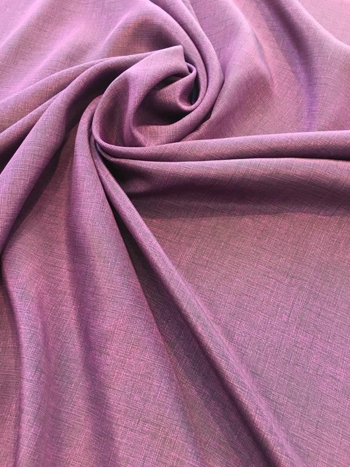 Purple and Black Crepe de Chine