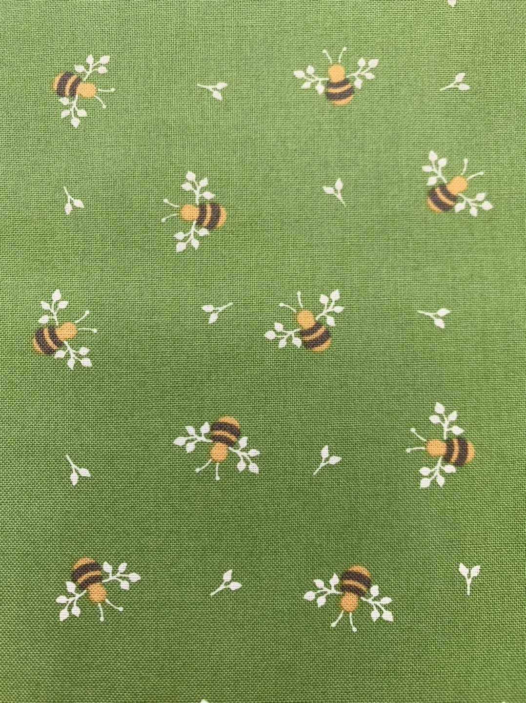 Bees on Green