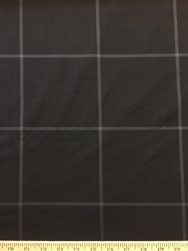 Enormous Black Grey Windowpane