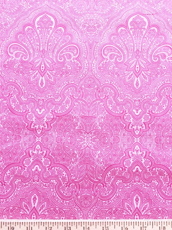 Pink Filigree Shirting
