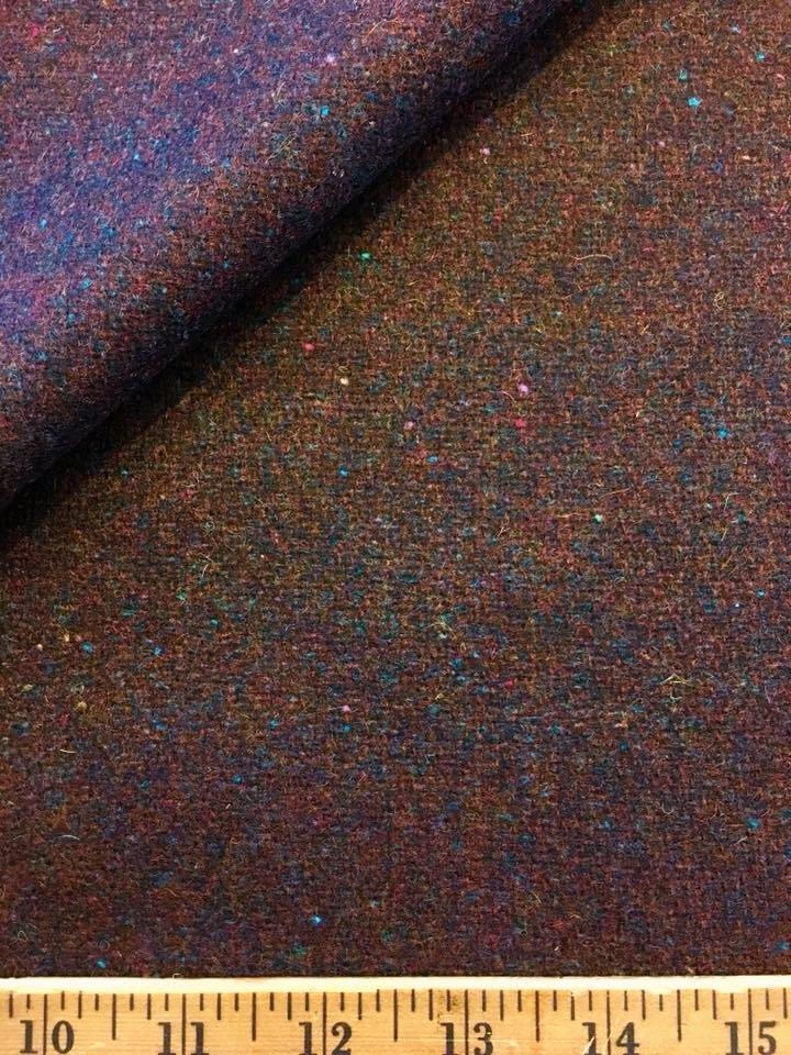 Mahogany Wool Tweed