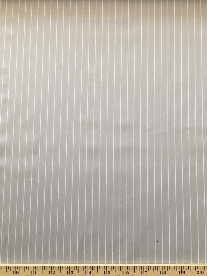 Pale Grey White Stripe Shirting
