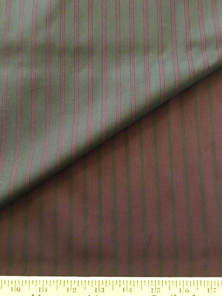 Brown Burg Reversible Double Stripe Shirting