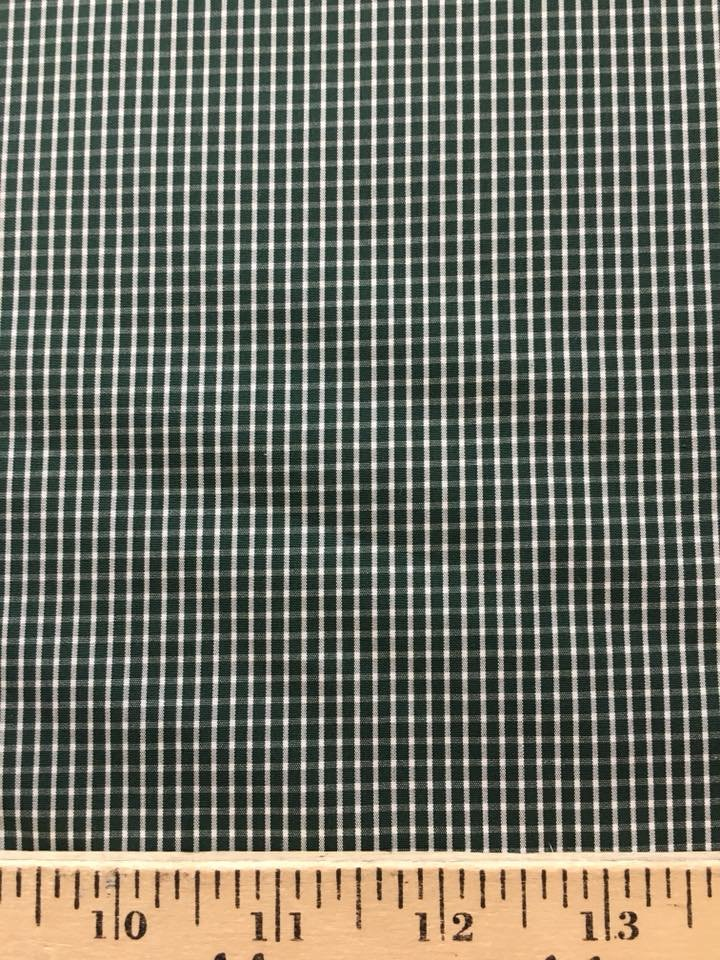 Green and White Check Shirting