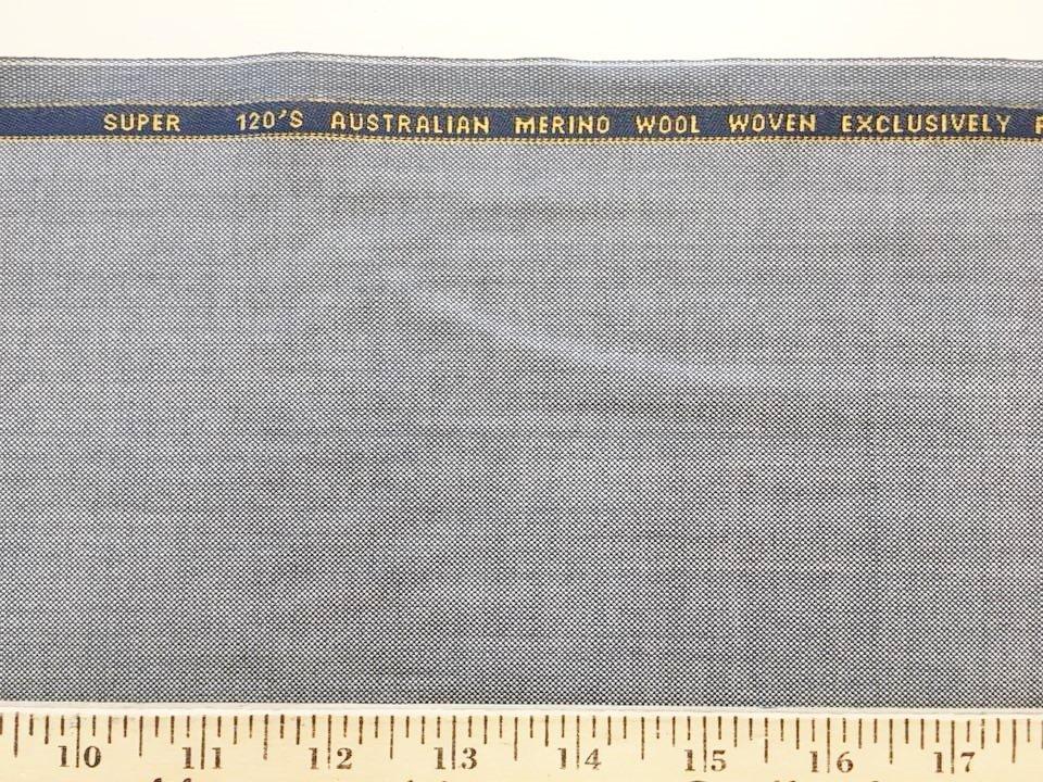 Grey Pinpoint Merino Wool