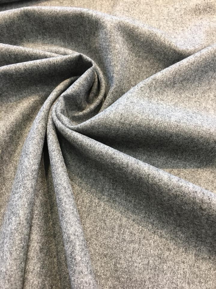 Grey Wool Flannel