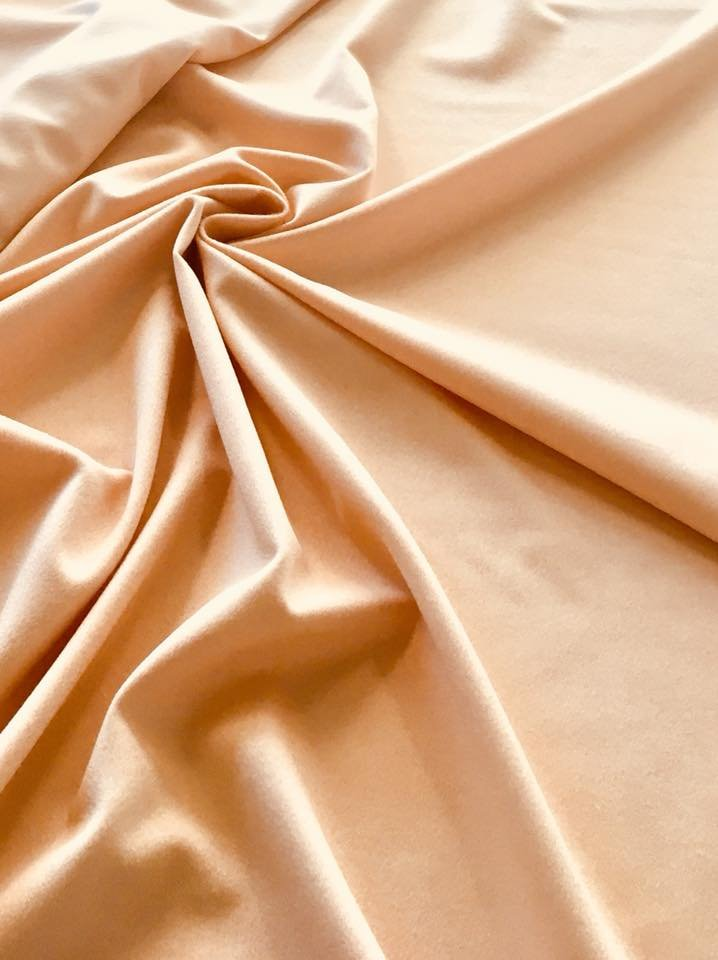 Pale Apricot Camelhair Lambswool