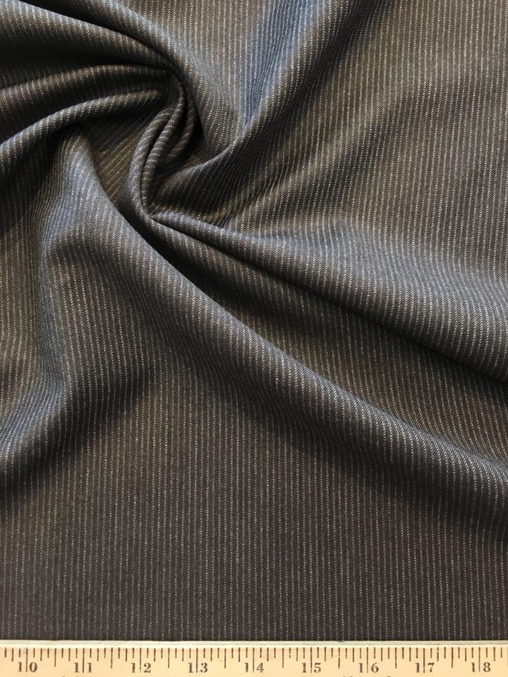 Brown wool with twill grey pinstripe
