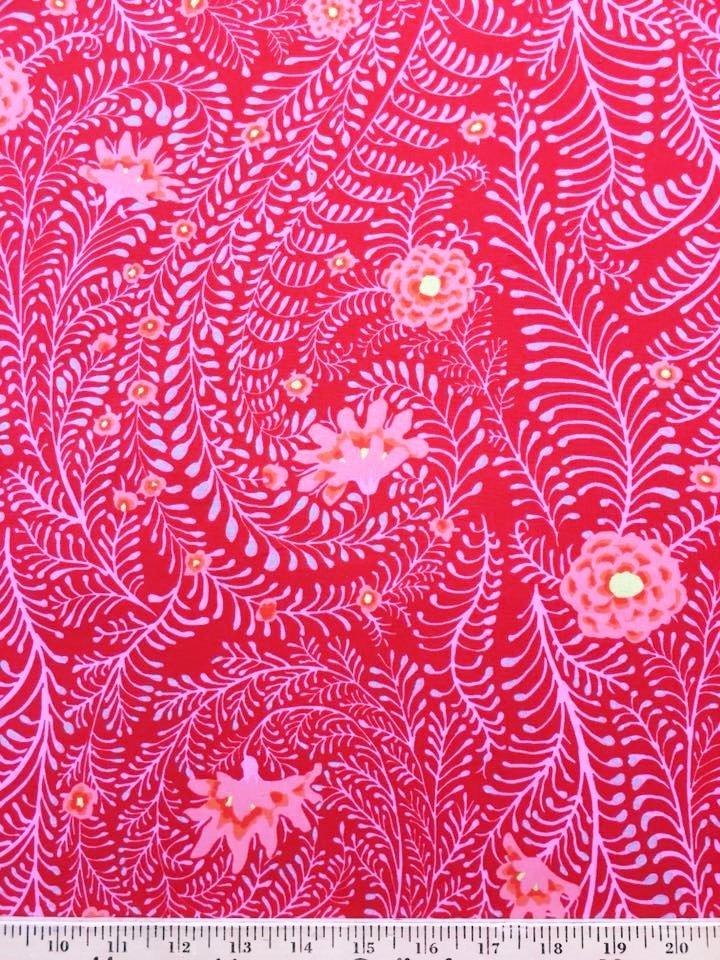 Ferns in Red