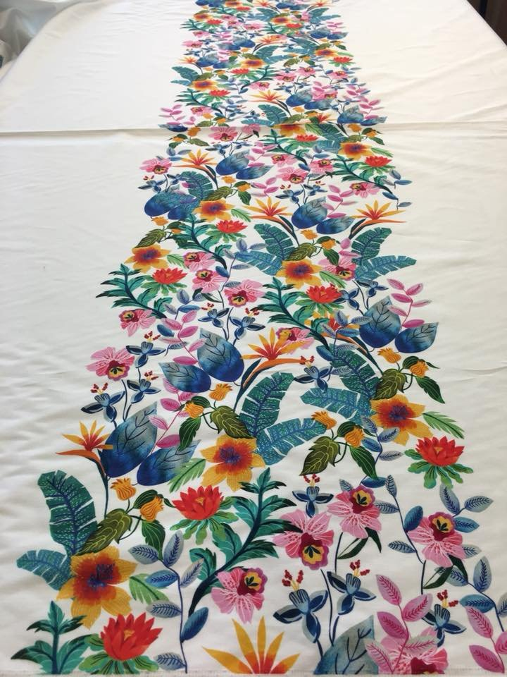 Tropical Trail Stretch Cotton Panel