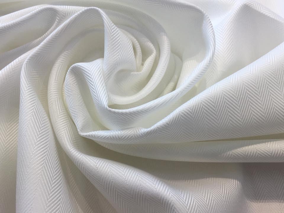 White on White Herringbone Shirting