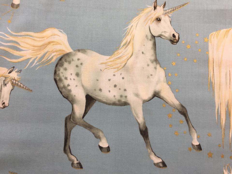 Stars of the Unicorn on Blue