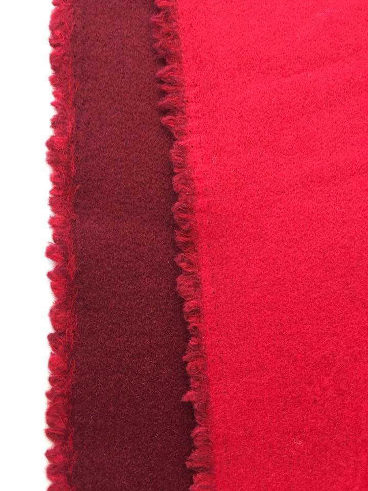 Red/ Burgundy Reversible Coating