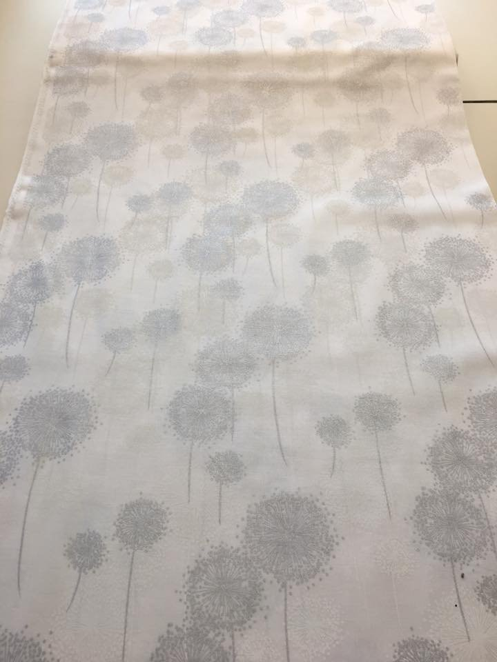 Silver and White Dandelions on White