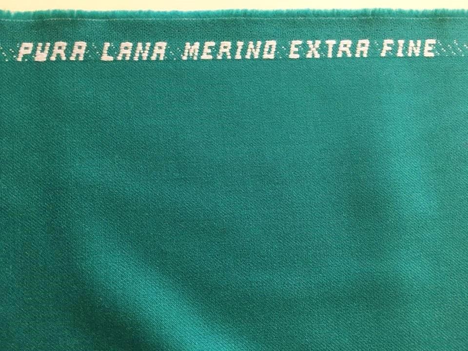 Teal Green Merino Twill