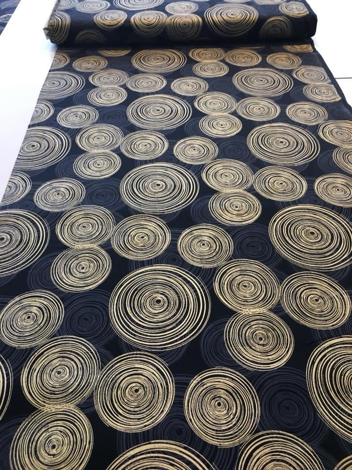 Gold Spirals on Black