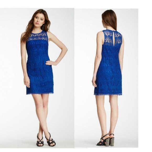 Royal Blue Guipure Lace
