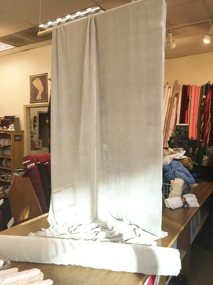 Dove Grey Silk Velvet