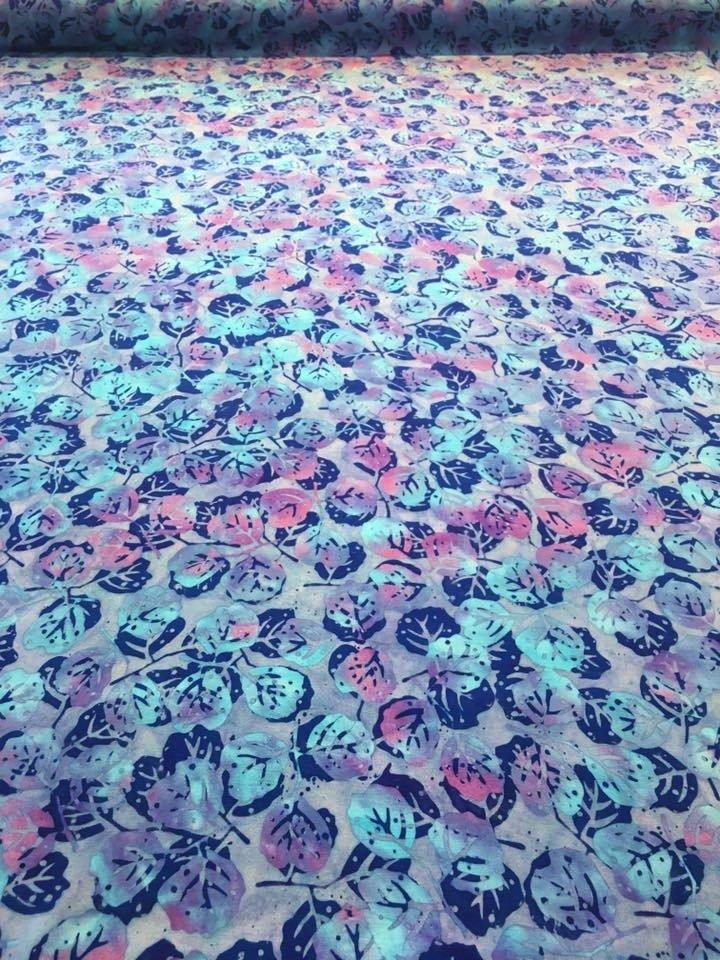 Blue Aspen Rayon Batik