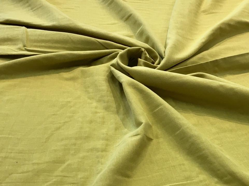 Subdued Chartreuse Double Gauze
