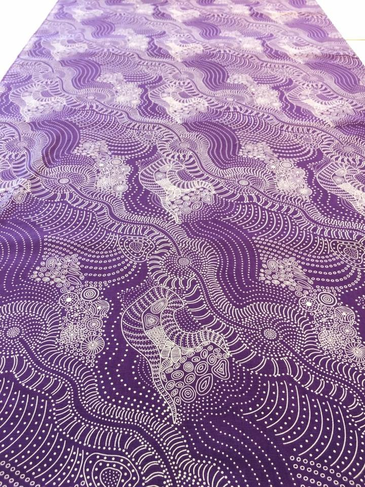Dreamtime River Bed in Purple