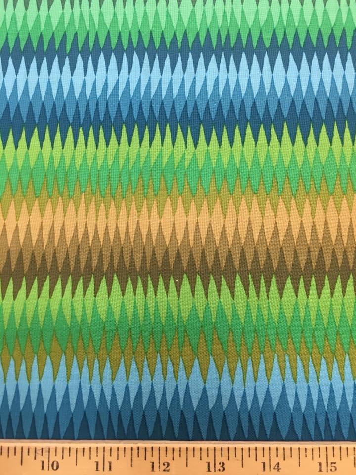 Diamond Stripe in Green