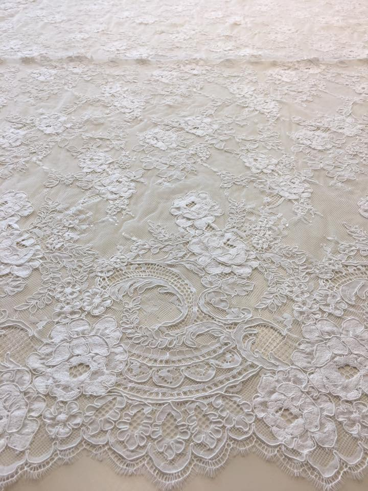 Double Scallop Alencon Lace