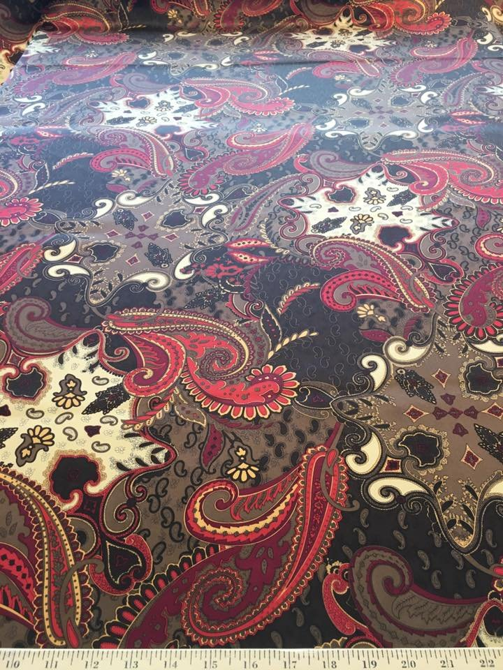 Brown and Red Paisley