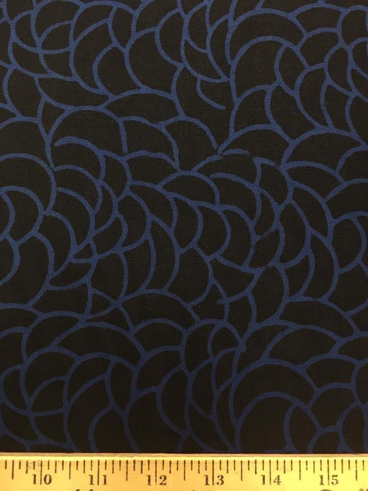 Black Camellia Rayon Batik