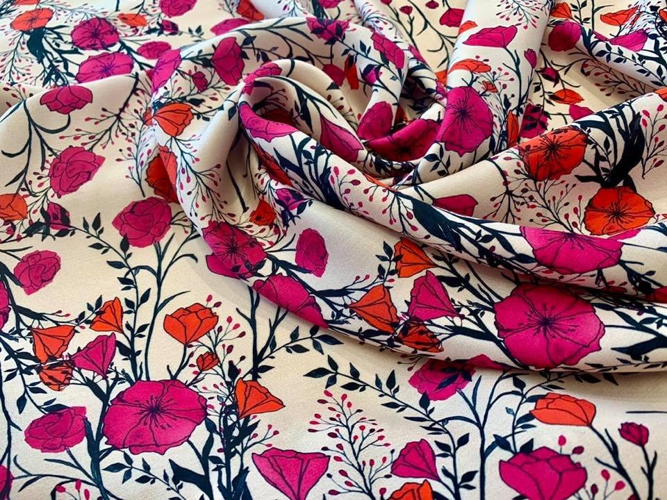 Flowering Vine Printed Rayon