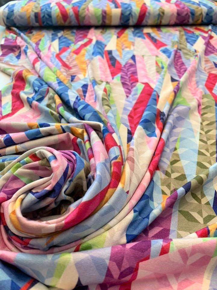 Color Shards Jersey Knit