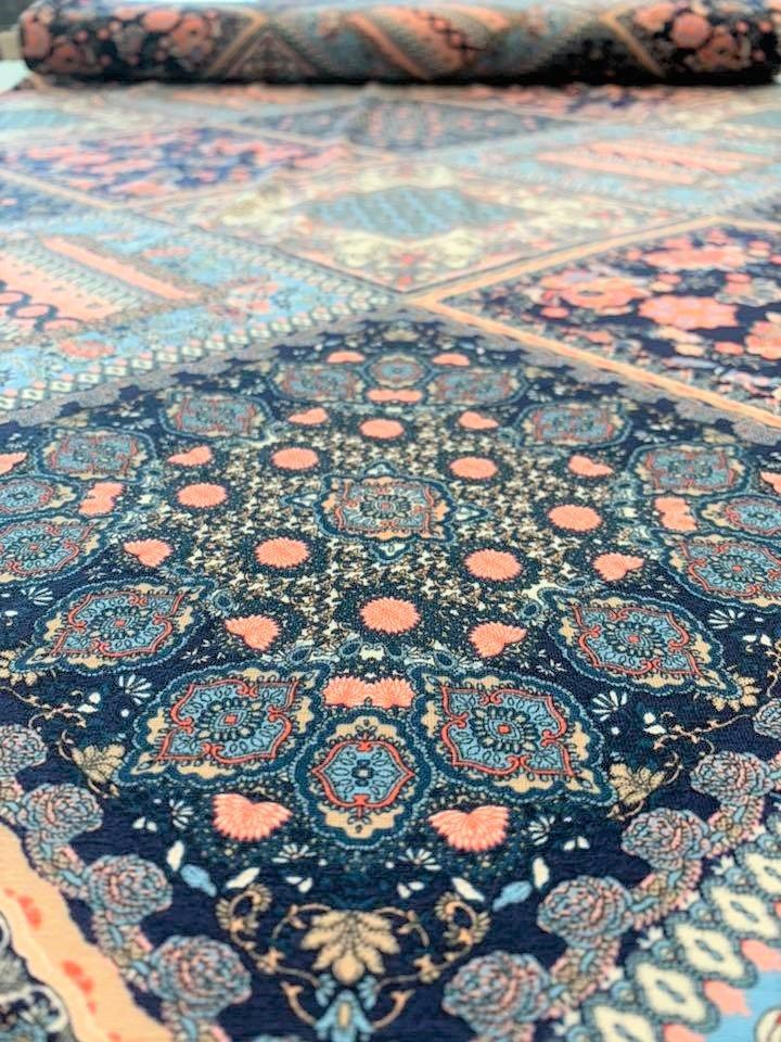 Mosaic Rayon Jersey Knit