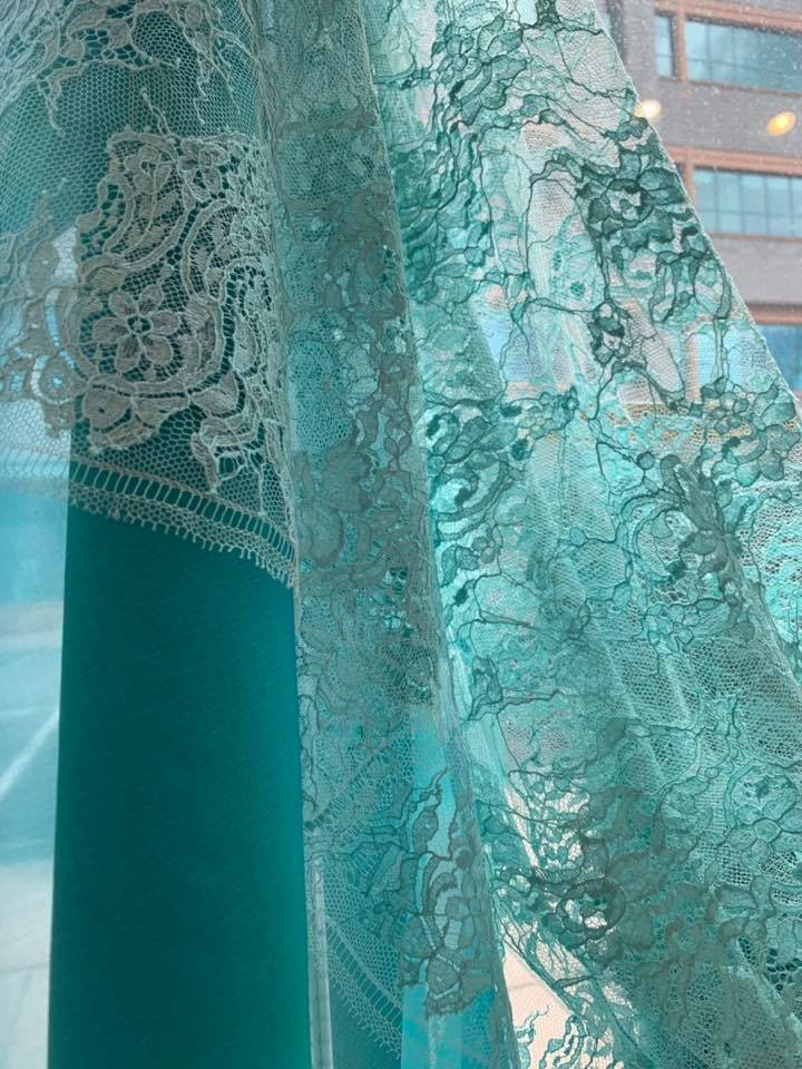 Aqua Chantilly Lace