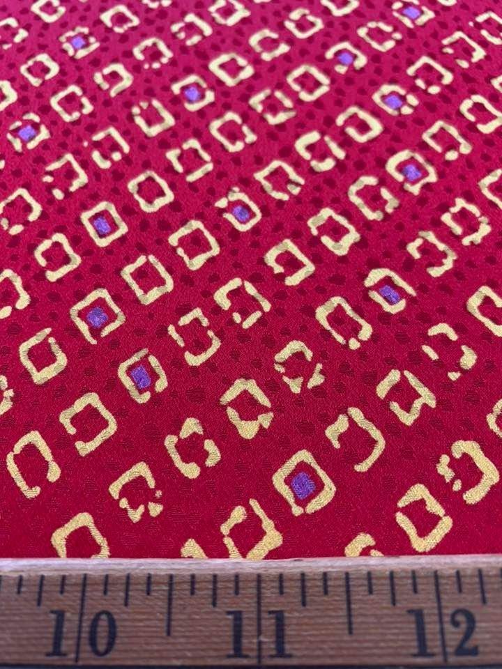 Monaco Printed Jacquard Silk