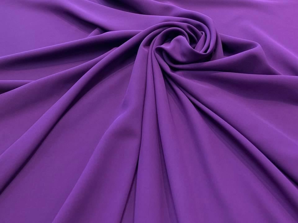 Royal Purple Silk Georgette