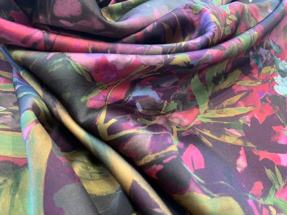Dark Delphinium Stretch Silk