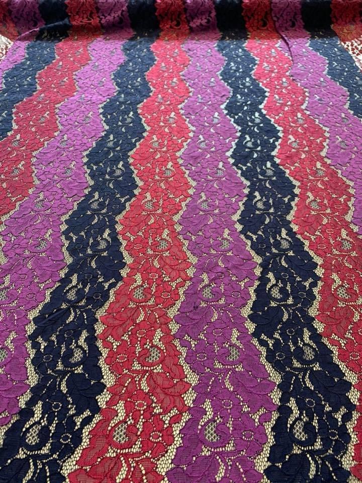 Wavy Striped Lace