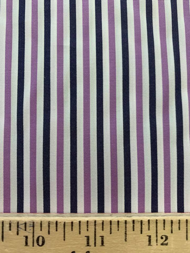 Purple Navy and White Stripe